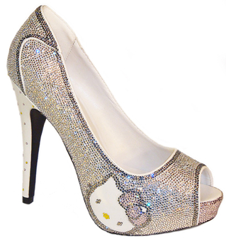 hello kitty heels :  wedding Hk Shoe