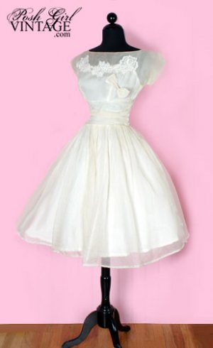 50s vintage wedding dress