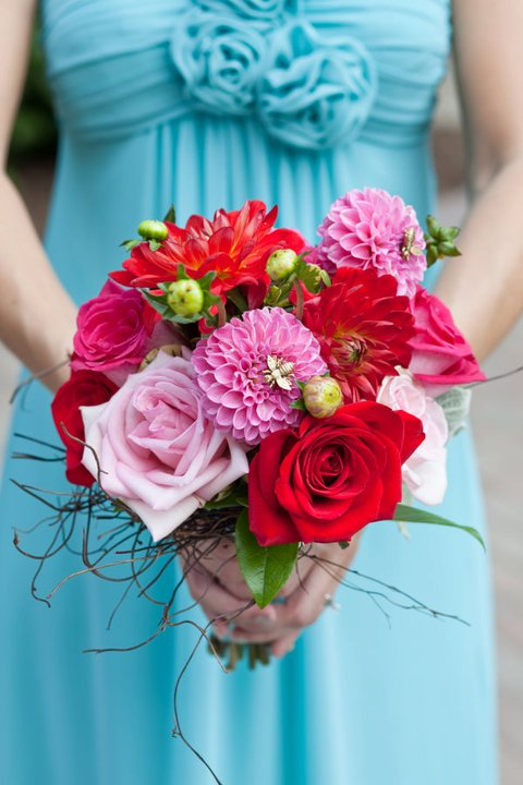 how to add bouquet picks to a bouquet