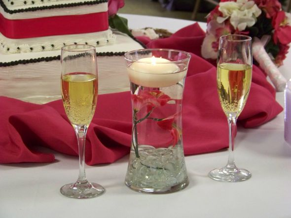 Damask wedding centerpieces reference for decoration