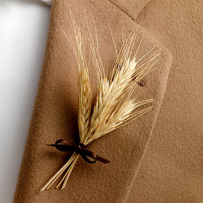 Rustic Charm Wheat Themed Wedding :  wedding inspiration Wheat Boutonnier