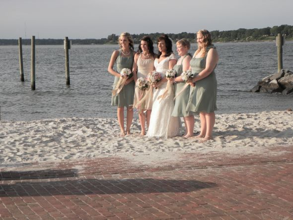 Wedding Bridesmaids Dress Photos wedding beach wedding green pink ivory