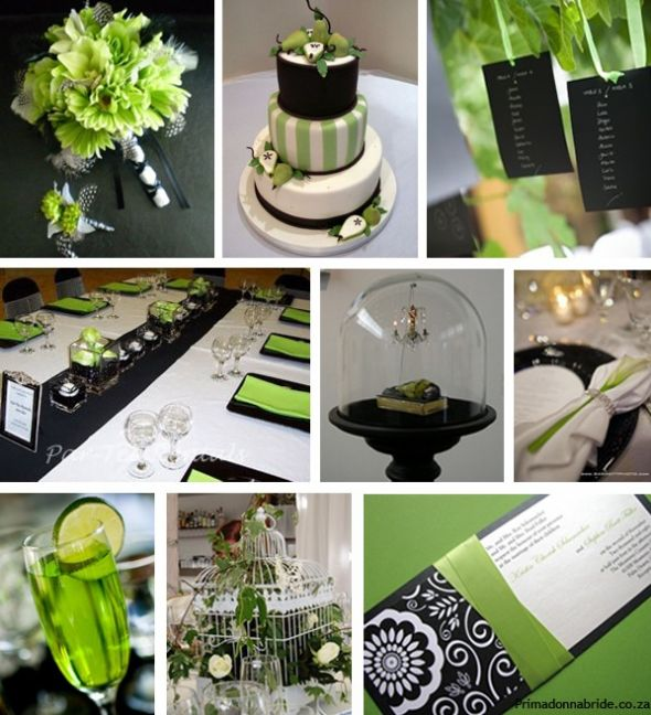 Where are all my March 2012 ladies at wedding irish Green Black And White