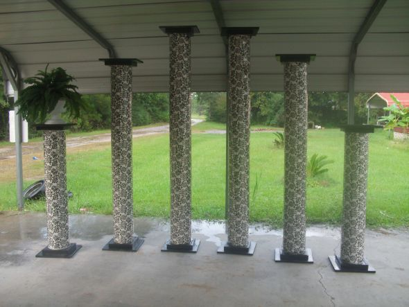 Homemade Columns wedding diy Wedding 001