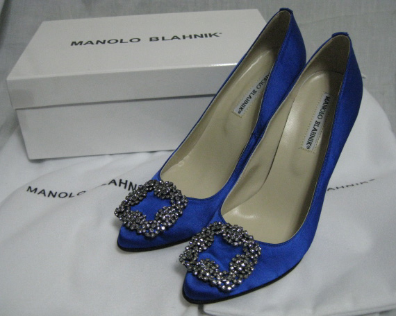 Manolo Blahnik Something Blue Shoes 36 wedding blue engagement ceremony