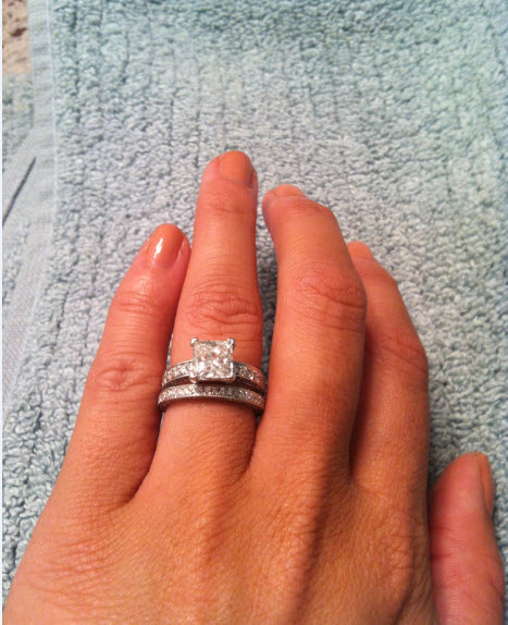 My custom made wedding band is in Pics