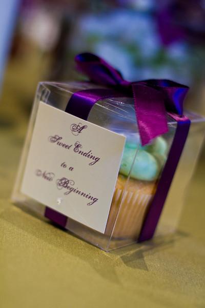Clear Favor Boxes plum purple ribbon cardstock paper wedding favor boxes