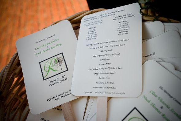 wedding program fans do it yourself party invitations ideas