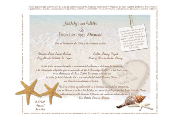 Wedding Invitations in Spanish Text Spanish Wedding Invitation