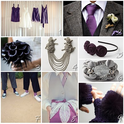 been set on my color palette of eggplant purple grey black and white