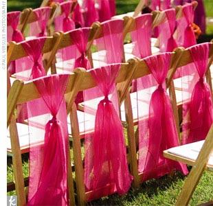 Silver Organza Chair Bows