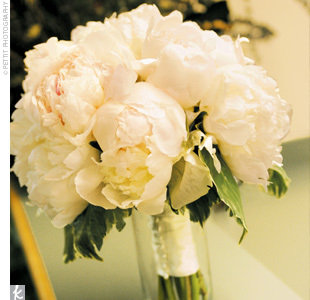 Peonies, peonies :  wedding bouquet flowers ivory peony white Bouquet Flowers 176 10 M