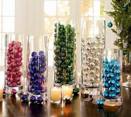Nonflower centerpiece ideas please wedding Mini Ornament Vase Filler