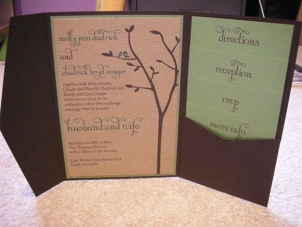 Cheap Wedding Pocket Invitations: DIY Pocketfold Invitations