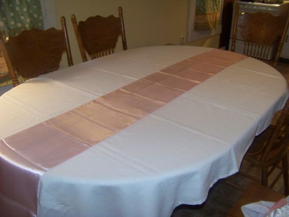 wedding pink white Tablerunner I have 120 pink cloth napkins 050 each