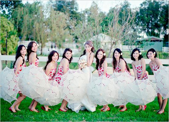 Say NO to flowers! : wedding parasols no flowers purple Bridesmaid Parasols Wedding Chicks