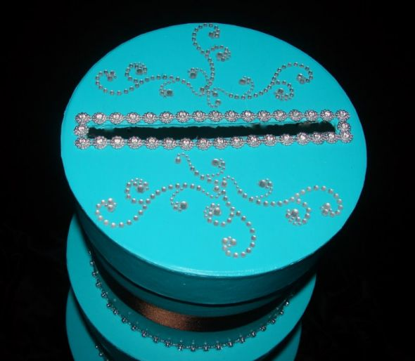 Tiffany Blue and Chocolate Brown DIY Cardbox wedding tiffany blue