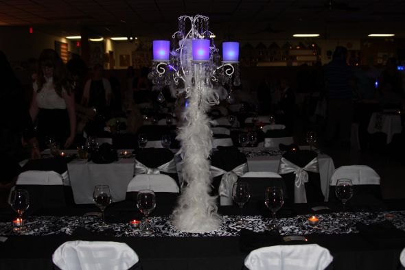 wedding feathers centerpieces linens 24 glass champagne glasses clear