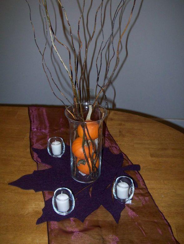 Plum and Burnt Orange wedding plum orange decoration Centerpiece