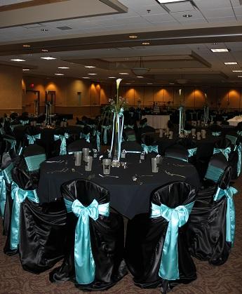 212 Satin Pool Blue Chair Sashes wedding chair sashes pool blue teal blue