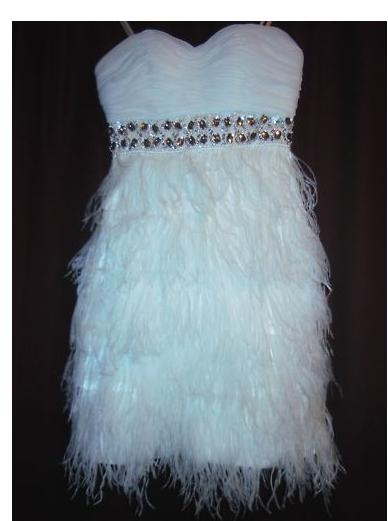 Gorgeous OSTRICH FEATHER Reception Wedding Second Dress Size 5 wedding