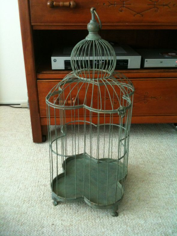wedding cardholder card holder vintage antique bird cage