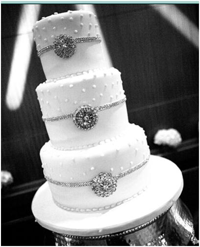 This will be my cake wedding bling white silver cake reception My Bling