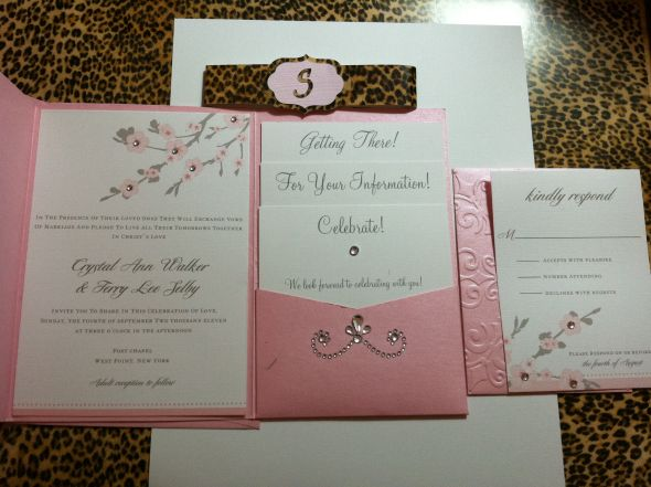 Mis quince on pinterest wedding invitations invitations for Printable folded wedding invitations