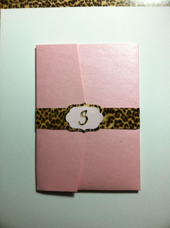 Pocket fold invite redo wedding pocketfolds pink invitations Pink Invite