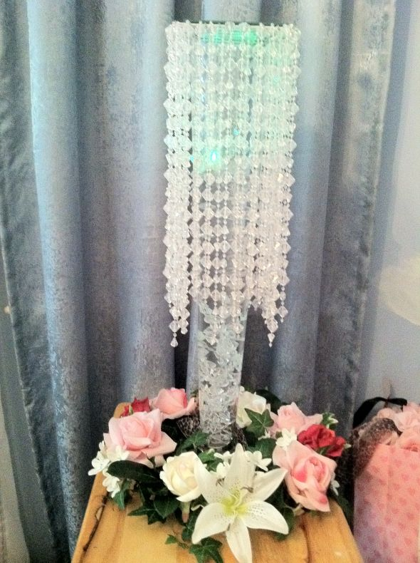 Crystal Chandelier Centerpiece wedding crystal chandelier centerpiece pink