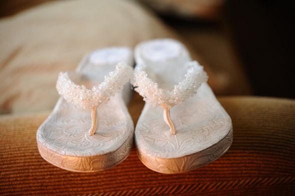 For SaleBeautiful Bridal FlipFlops Wedges Size 9 wedding white ivory