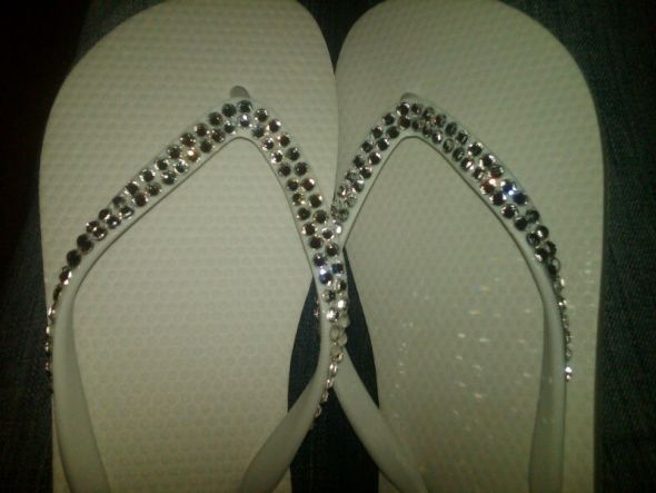 wedding flip flops shoes bling crystals flat shoes sandals bridesmaids