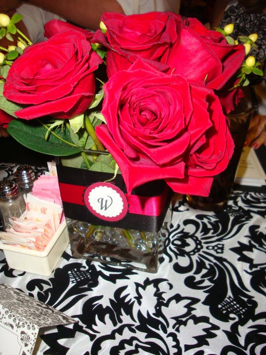 These were our wedding centerpieces along with our candles