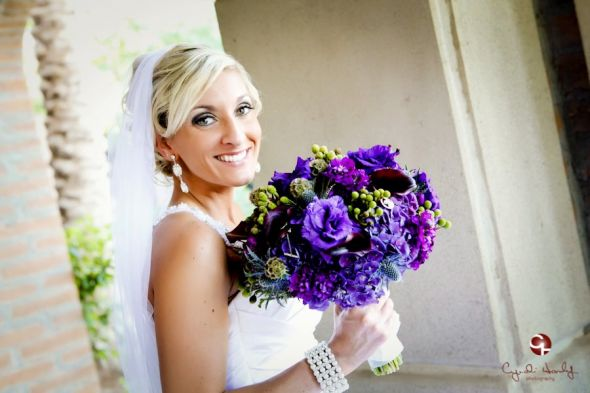 My Beautiful Purple Bouquet wedding bouquet blue navy purple white