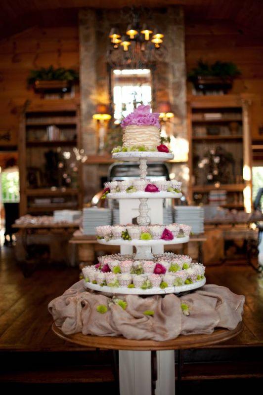 5 Tier Rustic Cupcake Stand wedding vintage rustic cupcake cup cake stand