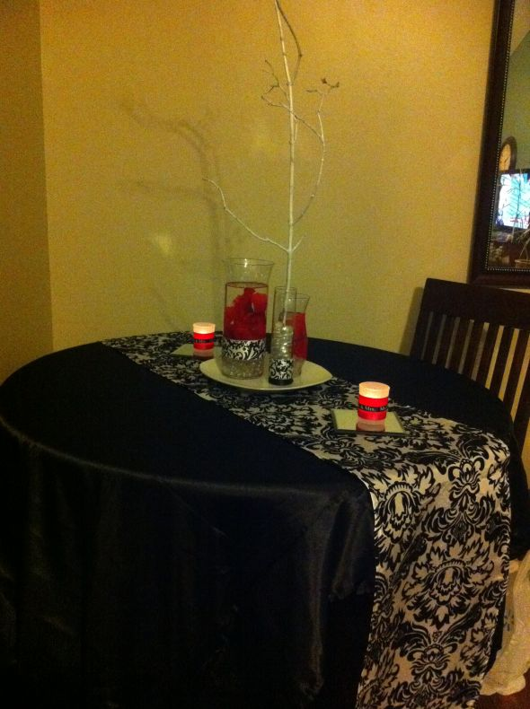 Diy damask centerpieces weddingbee photo gallery
