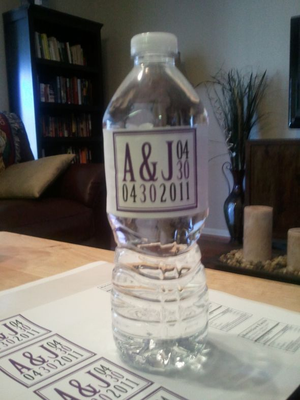 DIY  waterbottle labels :  wedding diy labels reception water bottles waterbottles Waterbottle3
