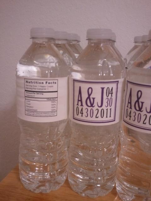 DIY  waterbottle labels :  wedding diy labels reception water bottles waterbottles Waterbottle4
