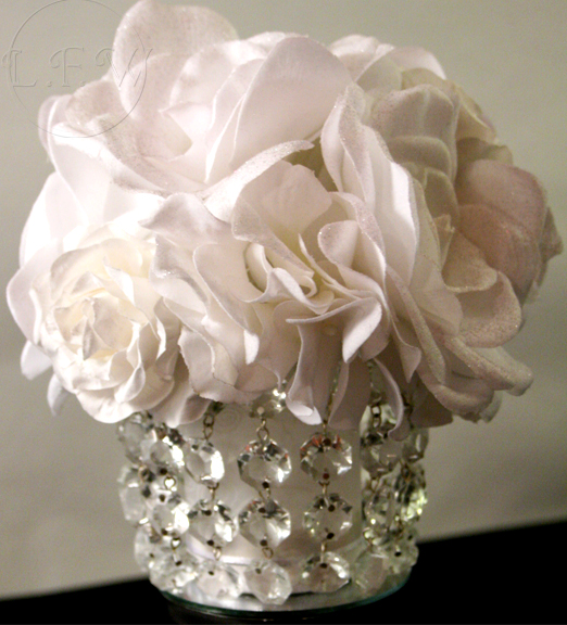 Crystal Light Blue White Ivory Winter Wedding Items wedding crystal