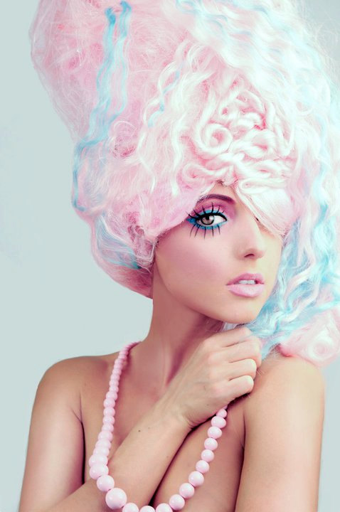 Halloween costume: cotton candy  which outfit  Weddingbee - Sweet Halloween Makeup