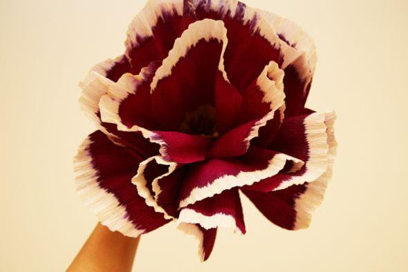 paper flowers wedding centerpiece. paper flowers and silk flowers