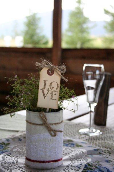 Centros de mesa para boda con macetas 3