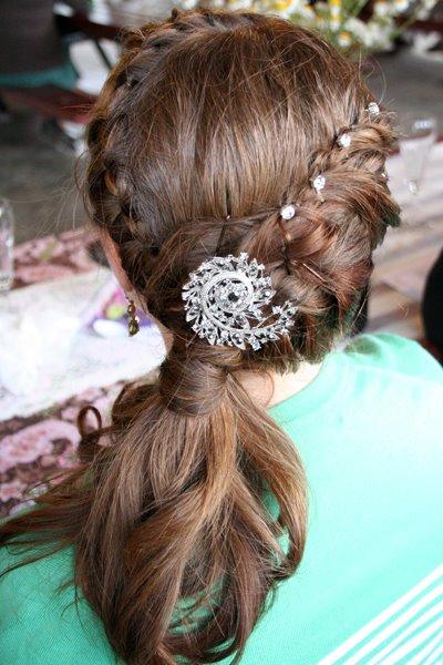 wedding hair – side pony w/french braid