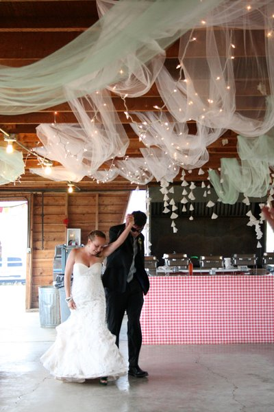 Tulle Amp String Lights Ceiling