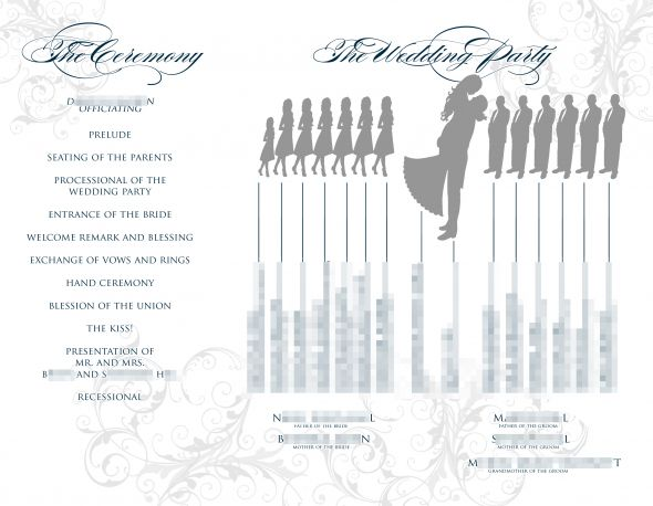 Free Tri Fold Wedding Program Templates