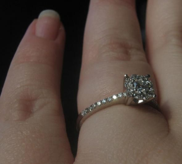 Post your DELICATE & DAINTY rings here! :  wedding dainty delicate rings Sparkly