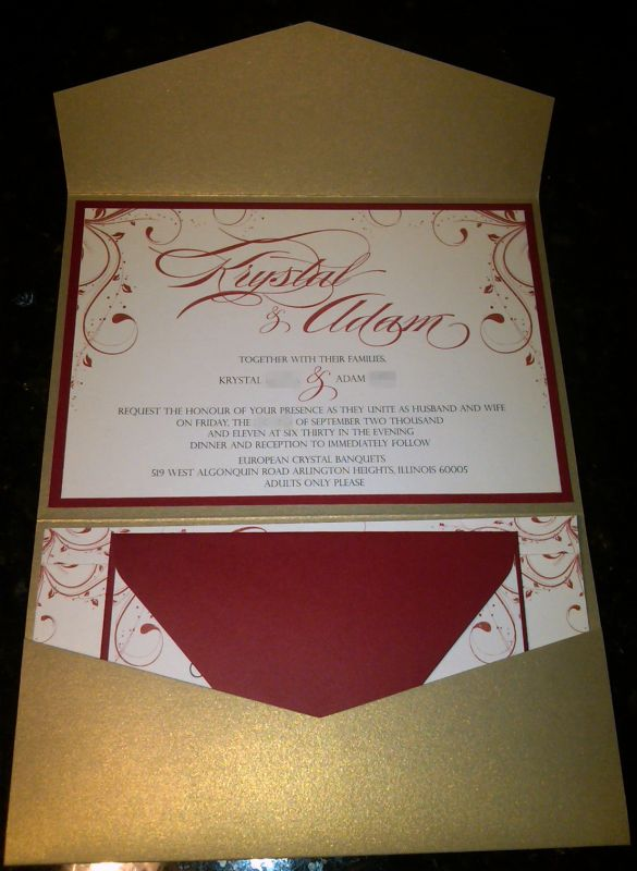 Our Pocketfold Invitations