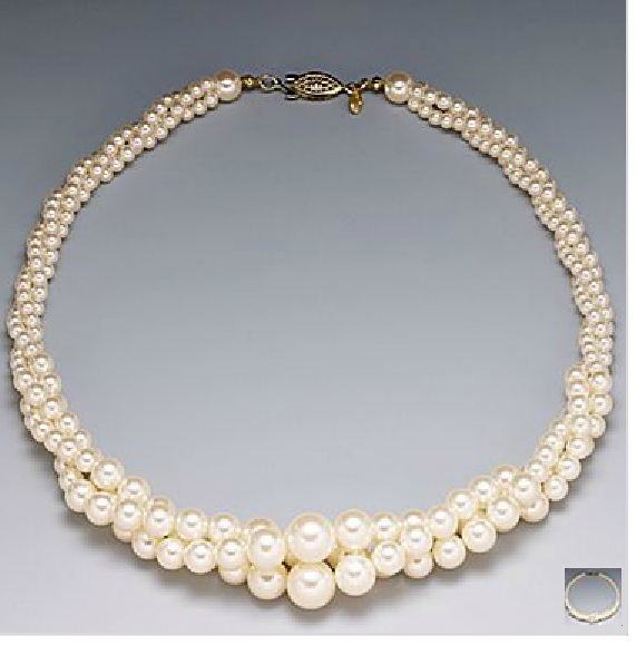 My necklace! :  wedding inspiration ivory jewelry Necklace 1