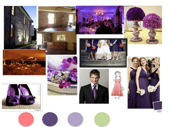 New Inspiration Board wedding inspiration board purple coral sage color
