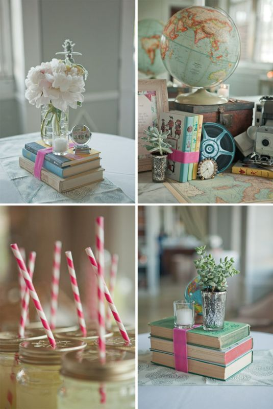 Book Centerpieces wedding centerpieces books vintage Book Wedding